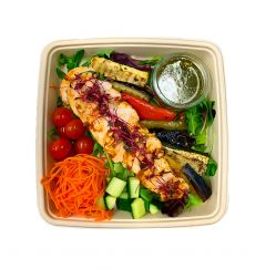 Herb Roasted Chicken with Mediterranean Grilled Vegetables - Bento Box
