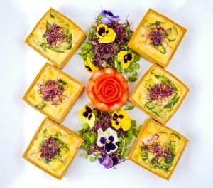 Individual Roasted Vegetable Quiche - Cold Fork Buffet