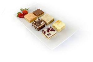 Selection of cake bars