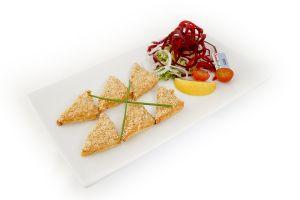 Sesame Prawn Toast Triangles