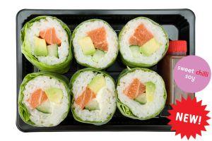 Salmon & Avocado Diamond Roll - Individual