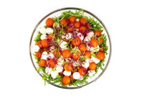 Large Bowl of Baby Mozzarella with Tomatoes & Rocket Salad