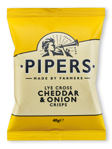 Lye Cross Cheddar & Onion Crisps 40g