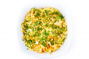 Large Bowl Of Home Made Coleslaw with Grated Cheese