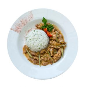 Fillet Of Beef Stroganoff With Rice