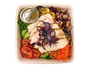 Roasted Chicken Salad with Mixed Beans - Bento Box