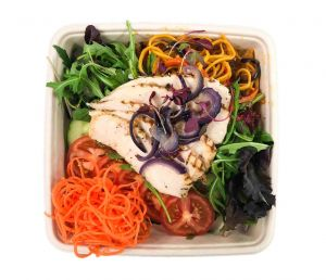 Asian Spiced Chicken Noodle Salad - Bento Box