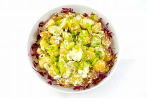 Large Bowl of New Potato Salad Light Mayo & Spring Onion