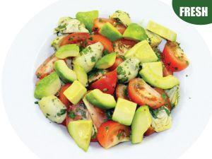 Large Bowl of Tomato Avocado & Artichoke Salad