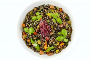 Large Bowl of Wild Rice & Bean Salad