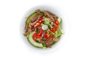 Oriental Duck Salad in a Bowl