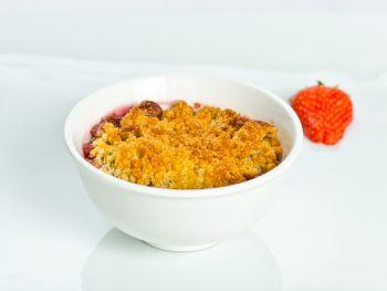 Apple & Rhubarb Crumble with Creme Anglais