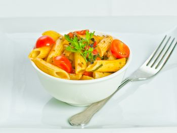 Mediterranean Roasted Vegetables with Penne Pasta