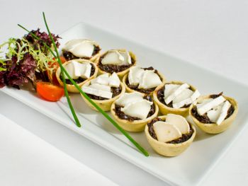 Mini Tartlettes of Goats Cheese with Red Onion Marmalade