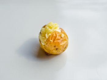 Baby Jacket Potato filled with British Cheddar Cheese