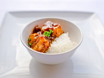 Assured Farmed Breast of Chicken Chasseur on Rice