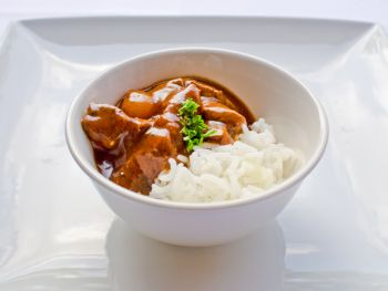 Fillet of Beef Bourginon with Rice