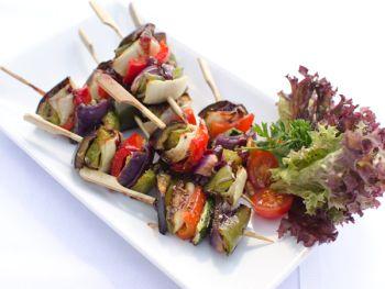 Grilled Vegetarian Skewers with Oriental Marinade