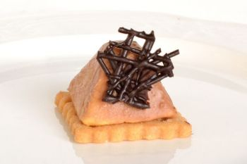 Mini Chocolate Pyramids with Sea Salt