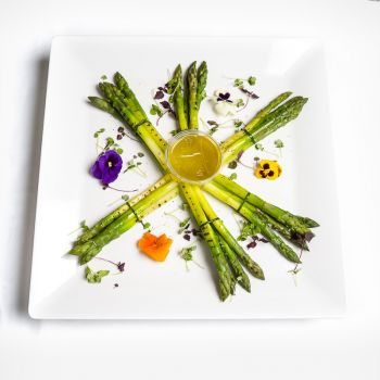 A Platter of Grilled Asparagus