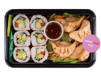 Vege California Rolls with Gyoza side - Individual