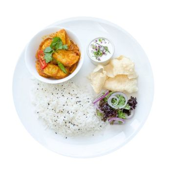 Chicken Curry With Rice Menu