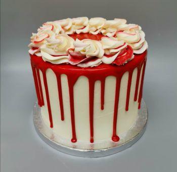 Handmade Celebration Cake - Vanilla Drip Cake
