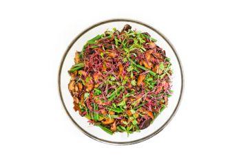 Large Bowl of French Green Beans, Shitake Mushrooms & Nutmeg