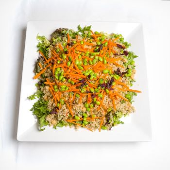 Platter of Quinoa, Edamame & Carrot Salad