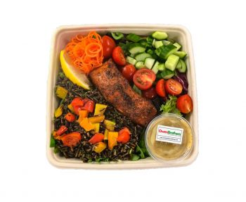 Harissa Roasted Salmon with a Wild Rice Salad - Bento Box