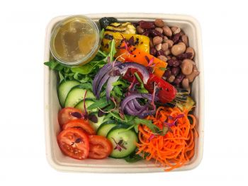 Vegan Bento Box - 5 Bean & Roasted Pepper Salad