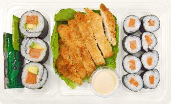 Salmon & Avocado Rolls with Katsu side - Individual