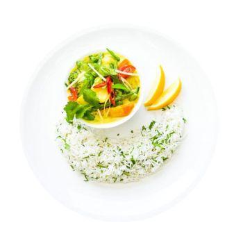 Malaysian Vegetable Curry & Rice Menu