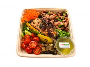 Roasted Salmon, Peppers & Three Bean - Bento Box