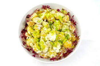 Large Bowl of New Potato Salad Light Mayo & Spring Onion