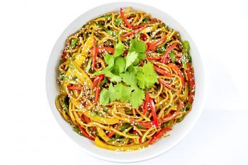 Large Bowl of Chinese Noodle Salad