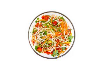 Large Bowl of Oriental Salad with Beansprouts, Peppers, Tomatoes, Lime & Coriander