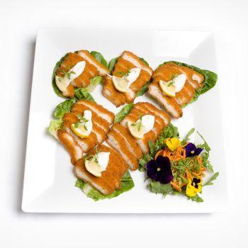 Panko Golden Chicken With Lemon Aoili