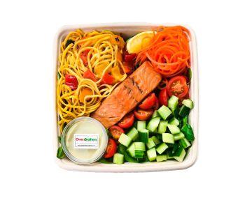 Pasta with Fresh Salmon - Bento Box