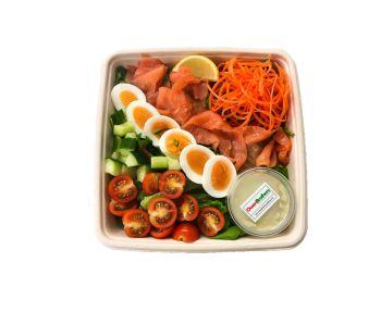 Smoked Salmon with Sliced Egg -  Bento Box