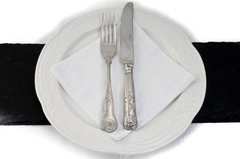 Dinner Plate Cutlery and Serviette