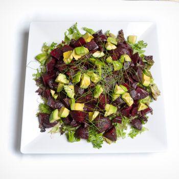 Platter Of Fresh Avocado & Beetroot Salad
