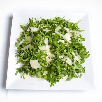 Platter Of Fresh Rocket Salad With Shaved Parmesan