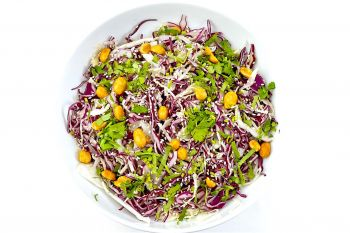 Large Bowl of Red Cabbage with Peanuts