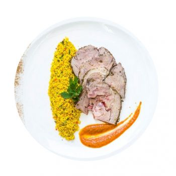 Roast Moroccan Lamb With Cous Cous