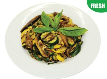 Large Bowl of Roasted Mushroom & Grilled Courgette Salad