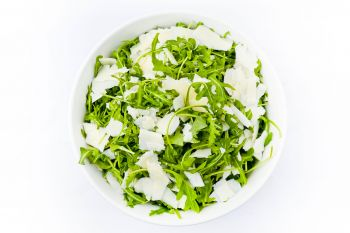 Large Bowl of Fresh Rocket with Shaved Parmesan