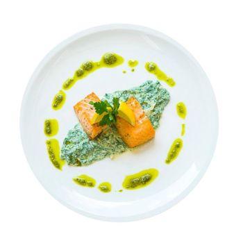 Salmon Florentine With Roast Potatoes Menu