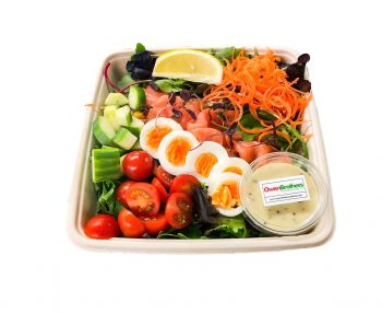 Smoked Salmon with Sliced Egg -  Bento Box