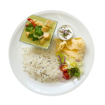 Thai Green Chicken Curry With Rice Menu